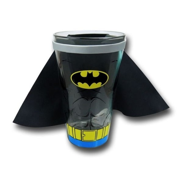Batman Full Body Caped Crusader DC Comics Dark Knight Pint Glass With Cape