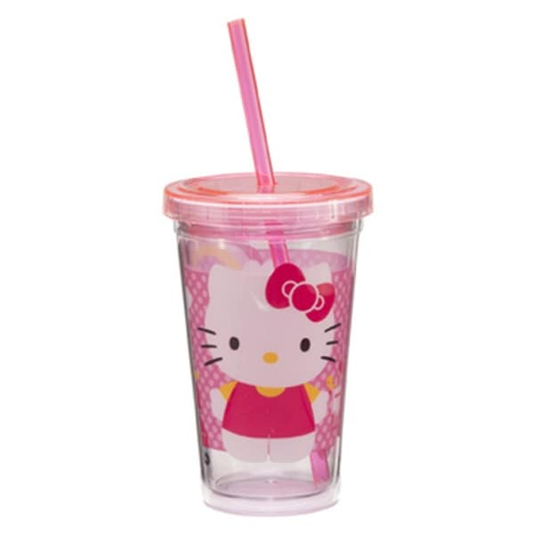 Hello Kitty Acrylic Travel Cup Tumbler