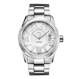 JBW Men's Bond J6311B Stainless Steel Diamond Watch