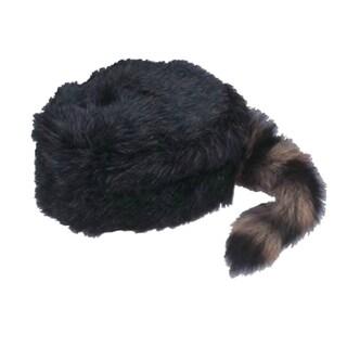Coonskin Raccoon Davey Crockett Cap Hat