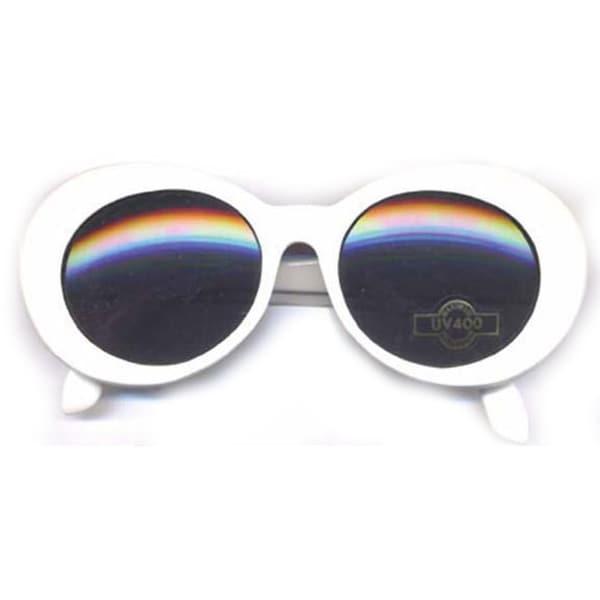 Kurt Cobain White Nirvana Onassis Mod Grunge Jackie Kennedy Round Sunglasses