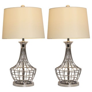 Trendy Collection 30-Inch Tall Metal Table Lamp (Set of 2)