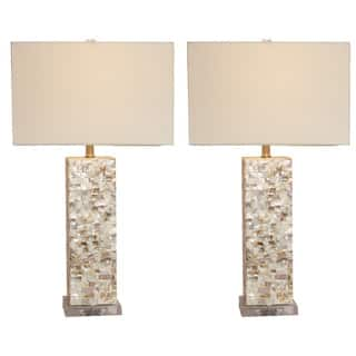 Casa Cortes Mosaic Art Table Lamp - Set of 2