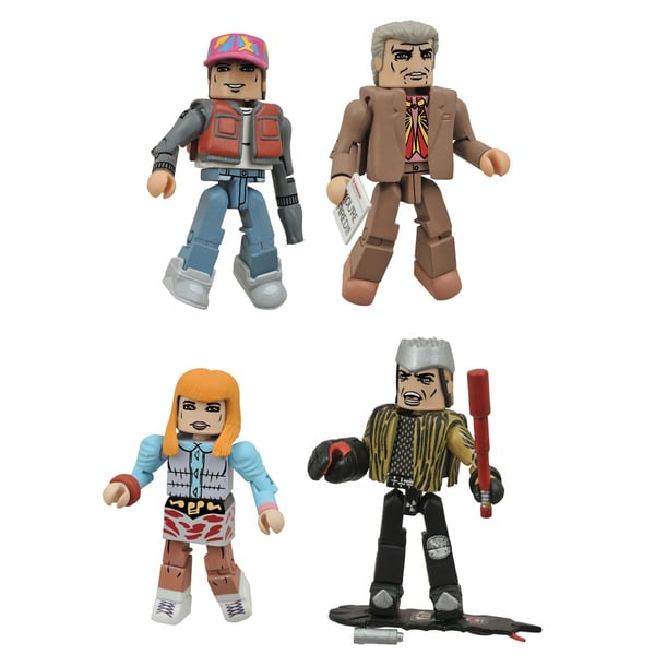 Diamond Select Toys Back To The Future 30th Anniversary Minimates Hill Valley Box Set