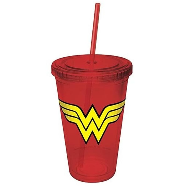 Wonder Woman Logo Acrylic DC Comics 16-ounce Tumbler