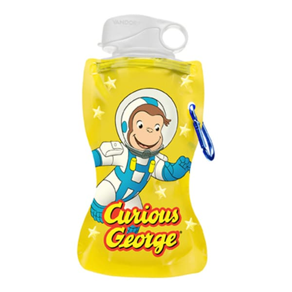Curious George Collapsible PBS Astronaut Space 12-ounce Water Bottle