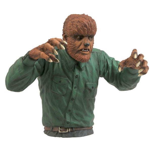 Diamond Select Toys Universal Monsters Wolfman Bust Bank