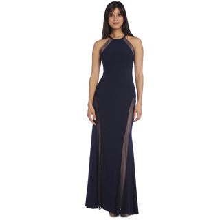 Nightway Illusion Evening Gown