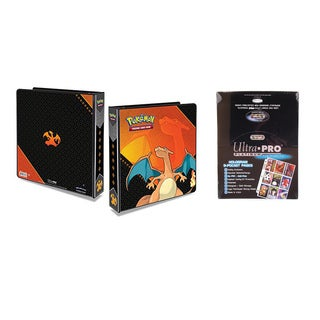 Pokemon Charizard 2 inches 3-Ring Binder Card Album with 100 Ultra Pro Platinum 9-Pocket Sheets