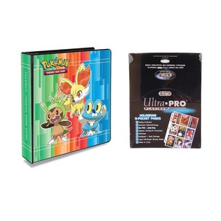 Pokemon X & Y 2 inches 3-Ring Binder Card Album with 100 Ultra Pro Platinum 9-Pocket Sheets