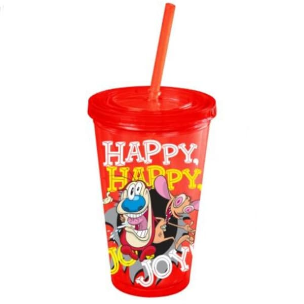 Ren and Stimpy Happy, Happy, Joy, Joy Acrylic 16-ounce Tumbler