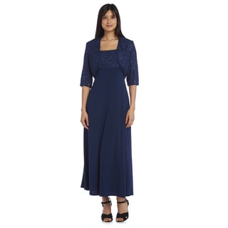 R&M Richards Long Lace Dress