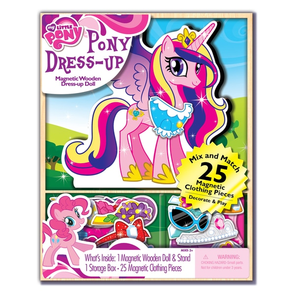 Bendon My Little Pony Dress-up Wooden Magnetic Play Set (25pc)