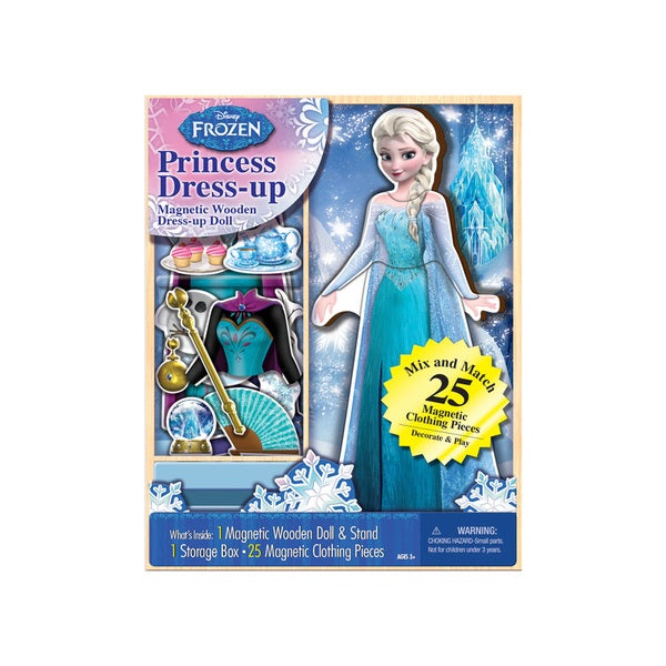 Bendon Disney Frozen Elsa Princess Dress-up Wooden Magnetic Play Set (25pc)
