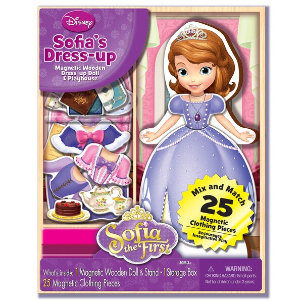 Bendon Disney Sofia the First Dress-up Wooden Magnetic Play Set (25pc)