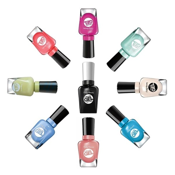 Sally Hansen Miracle Gel 8-piece Nail Polish Set Plus Top Coat