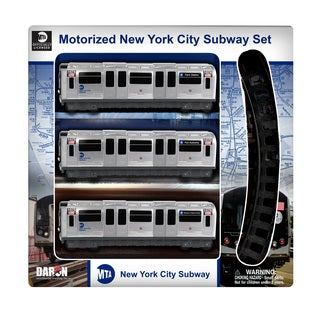 Daron New York MTA 3 Piece Subway Set with 8 Piece Track