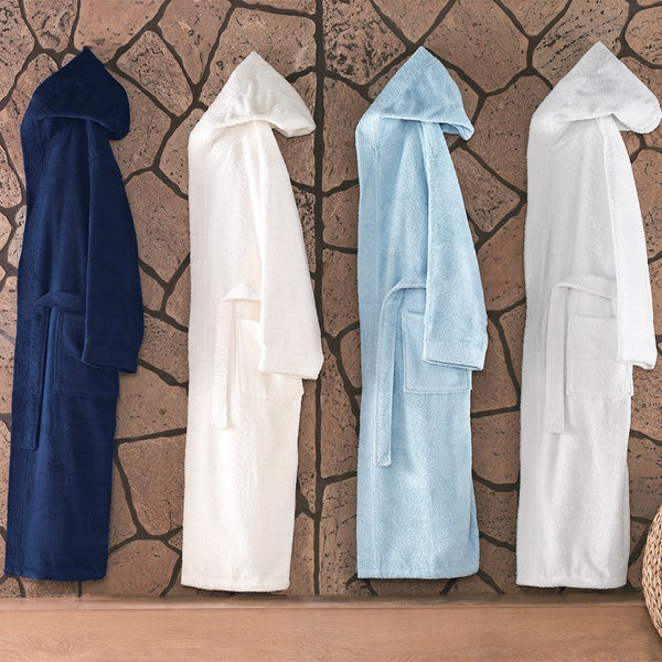Enchante Luxury Extra Soft Turkish Hooded Bathrobe