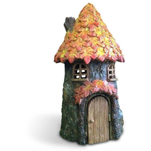 Autumn Leaf Fairy House