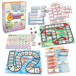 Junior Learning Comprehension Games - Set of 6 Different Games