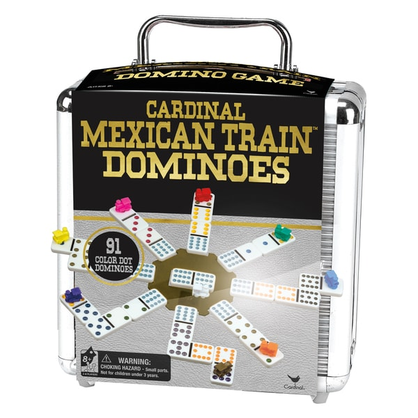 Cardinal Mexican Train Domino Game in an Aluminum Case 17432012