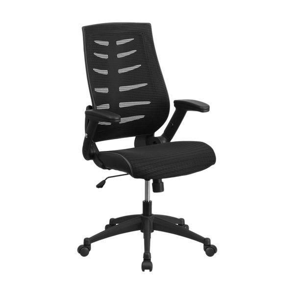 offex high back black designer mesh executive swivel office chair with