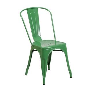 Offex Metal Indoor-outdoor Restaurant Stackable Chair