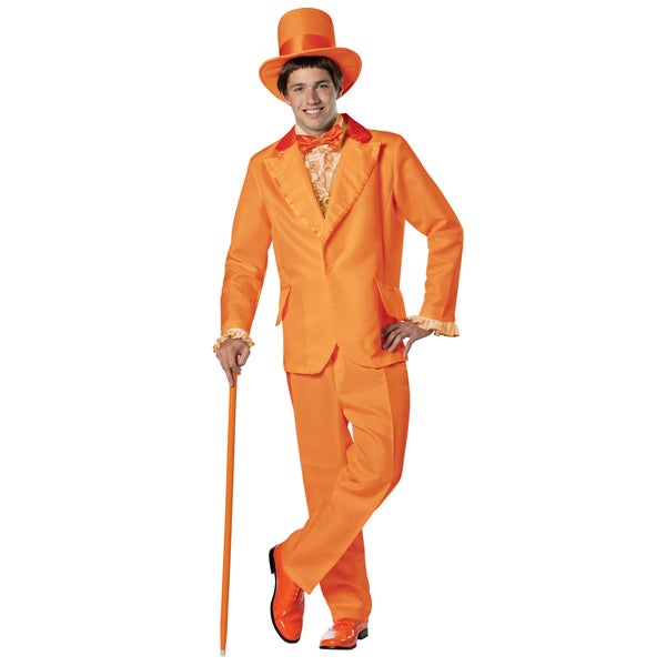 Lloyd Christmas Dumb and Dumber Jim Carrey Orange Tuxedo Costume