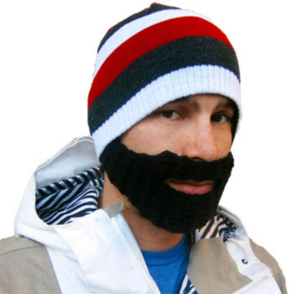 Stubble Cruiser Bearded Mustache Beanie Hat