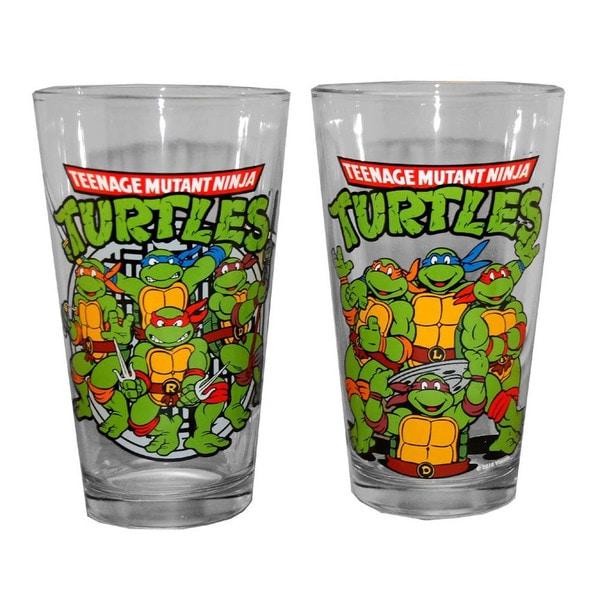 Teenage Mutant Ninja Turtles Group Picture Pint Glasses (Set of 2)