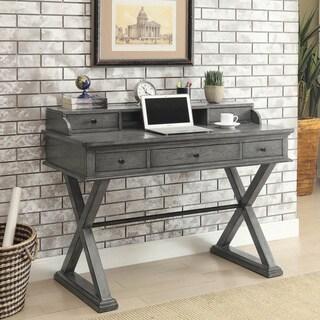 Somette Grey 5-Drawer Writing Desk