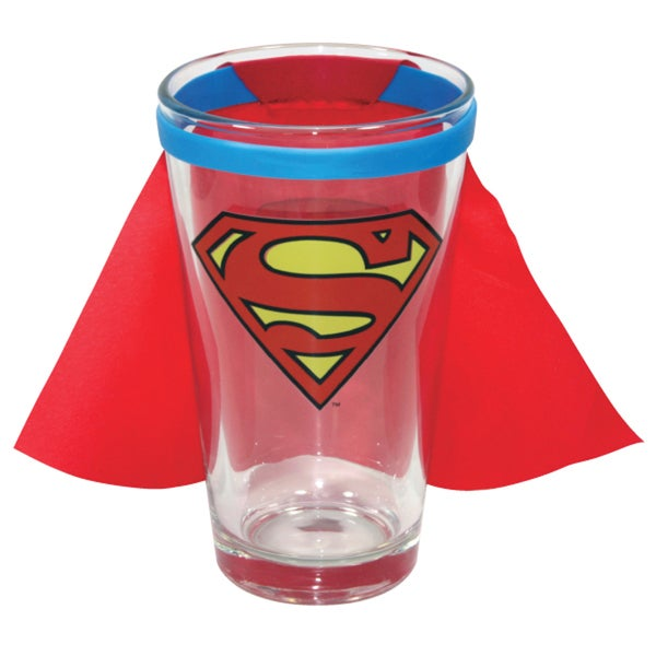 Superman DC Comic Man Of Steel Superhero Pint Glass With Cape