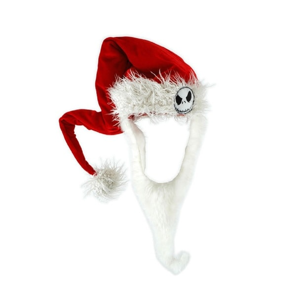 Jack Skellington Nightmare Before Christmas Sandy Claws Santa Hat and Beard