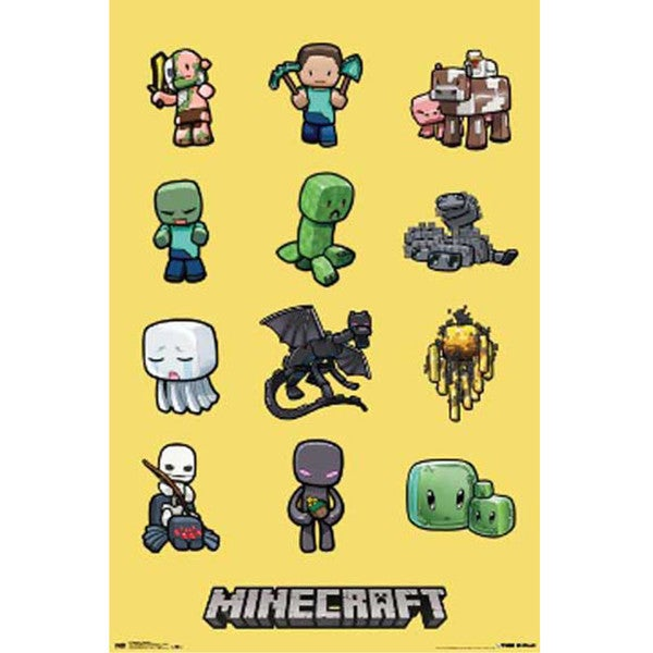 Minecraft Characters 24 x 36 Poster
