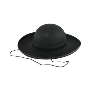 Black Padre Hat Amish Priest Preacher Minister Cardinal Felt Costume