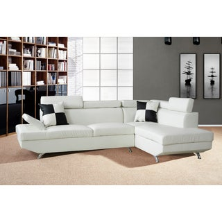 Genoa White Right Hand Facing Sectional