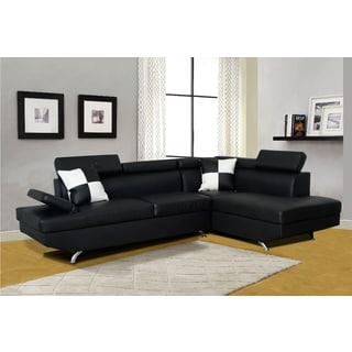 Genoa Black Right Hand Facing Sectional