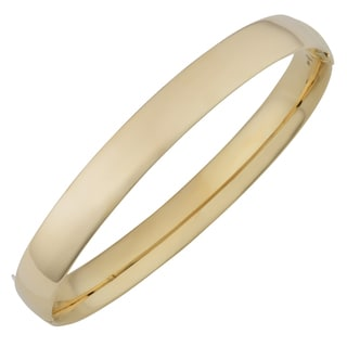 Fremada 14k Yellow Gold 8-mm High Polish Hinged Bangle