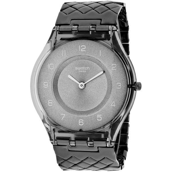 Swatch Women's SFM132GB Magie Nocturne Round Gunmetal Stainless Steel Bracelet Watch