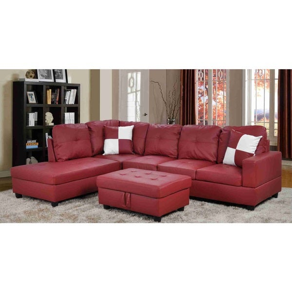 Urbania Red Left Hand Facing Sectional