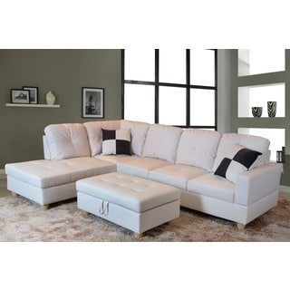 Urbania White Left Hand Facing Sectional