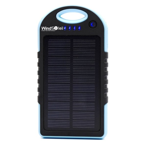 WindSoleil 'Ekhi' Solar Power Portable Battery Bank Charger with LED Light