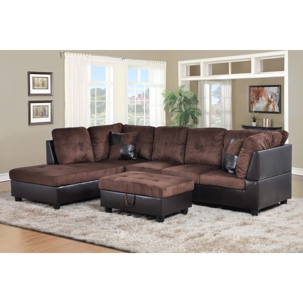 Siano Brown Left Hand Facing Sectional