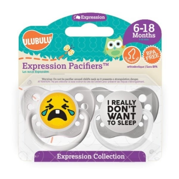 Personalized Pacifiers I Really Don't Want To Sleep Emoji Pacifiers 6-18 Months