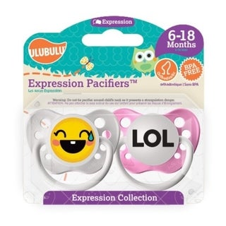 Personalized Pacifiers LOL Emoji 6-18 Months Girl