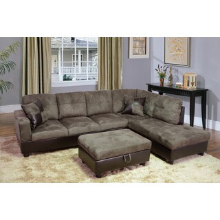 Avellino Light Brown Right-hand Facing Sectional