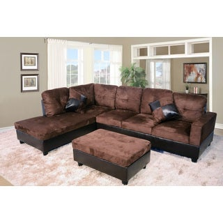 Avellino Dark Brown Left Hand Facing Sectional