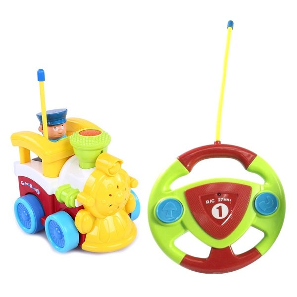 Cartoon Series Toddler Yellow R/C Radio Control Train