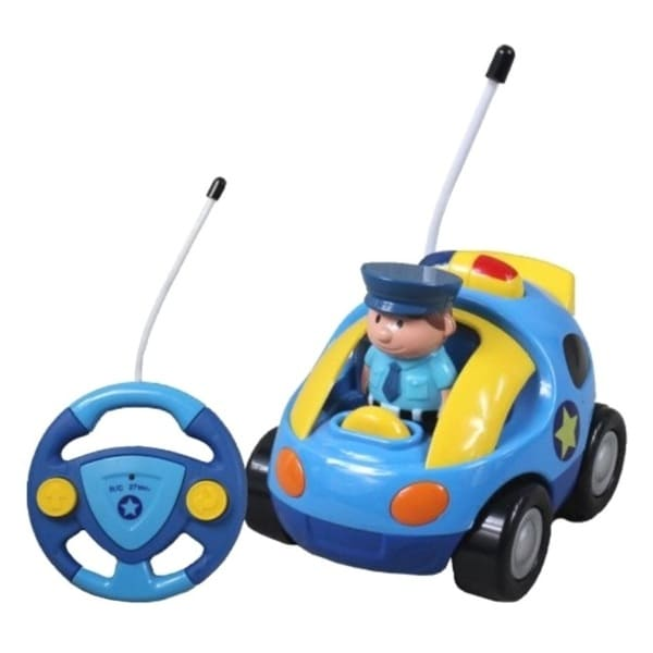 Cartoon Series Toddler Light Blue R/C Radio Control Police Car