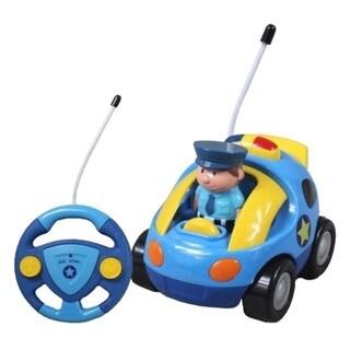 Cartoon Series Toddler Light Blue R/C Radio Control Police Car